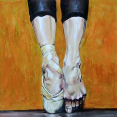 """""""Tip Toe Dancing"""" 60x60cm Figure Painting by Paul Arts at NUMA Gallery"""