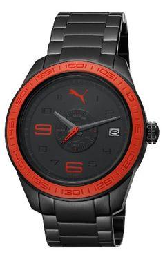 [プーマタイム]PUMA Time スライス L ブラックメタル レッド PU102971002 メンズ 【正規輸入品】