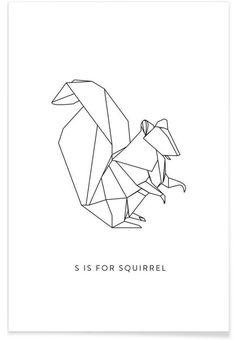 S als Premium Poster door Julia Marquardt | JUNIQE