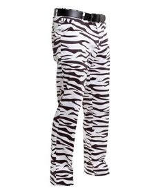 Zebra print Royal & Awesome Men's Loud Pants Golf Trousers.  For those high handicappers who want to be invisible in the rough! ;-)  www.golferslittlehelper.com