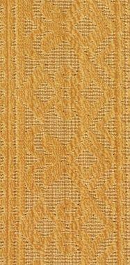"Beige on Taupe ""Stria Scroll"" carpet border"