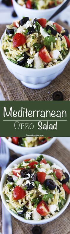 A bold and tasteful touch of the Mediterranean comes complete in this quick and easy Mediterranean Orzo Salad.