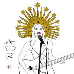 Anna Dello Russo rock'n'roll - illustrated by Chiara Rigoni #fashionillustration #illustration #chiararigoni #ADR #annadellorusso #queen