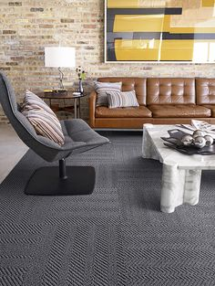 What's better than sisal?  Our Suit Yourself carpet tiles.  they've got the look, but the feel is soft under foot.