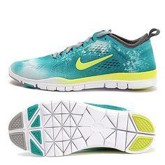 Nike Free 5.0 Tr Fit 4 Breath Womens Camo Teal Green Neutral Grey 629832 103,