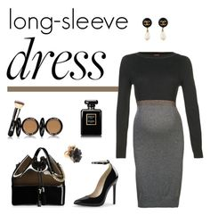 """""""Long sleeve dress polyvore contest II"""" by tippih ❤ liked on Polyvore featuring ESPRIT, Kartell, Oscar de la Renta, It Cosmetics and Chanel"""