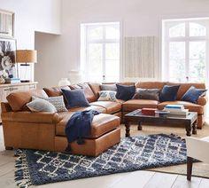 Villa Capri Orange 3 Pc Leather Living Room Leather