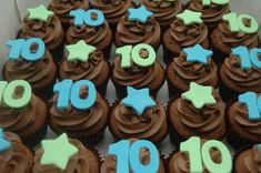 Birthday cupcakes ideas for boys cookies ideas 10th Birthday Cakes For Boys, Birthday Cupcake Images, 10 Birthday Cake, Birthday Party Outfits, Little Girl Birthday, Boy Birthday, Birthday Ideas, Cupcakes For Boys, Girl Cupcakes