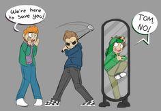 Ask Eddsworld — naniroxy: Tord traps Edd in a mirror (AU?) And...