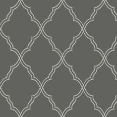 York Wallcoverings Candice Olson Dimensional Surfaces Moroccan Lattice Sand Wallpaper - CX122