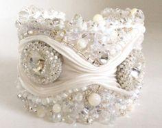 Shibori Pleated Ribbon Bracelet Tutorial | Sale - Swarovski Crystal Beaded Shi bori Ribbon Cuff Bracelet ...