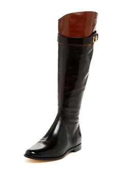 Black riding boots by Cole Haan