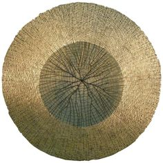 Gold Metal Mesh Round Wall Hanging/Wall Sculpture, Contemporary, Denmark | From a unique collection of antique and modern wall-mounted sculptures at https://www.1stdibs.com/furniture/wall-decorations/wall-mounted-sculptures/