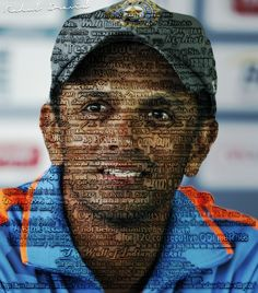 "Rahul Dravid ""the great wall of India""...  Poster with his record career."