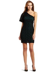 bec9a9fbae  B0060I5TB6 Nine West Dresses Women s Lace One Shoulder Dress - Autumn  Holley PRODUCT PAGE