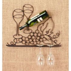 Metal Grape Wall Mounted Wine Glass and Bottle Holder Texas Wineries, Grapevine Texas, Wine Decor, Wine O Clock, Finding A House, Bottle Holders, Wine Gifts, Grape Vines, Wines