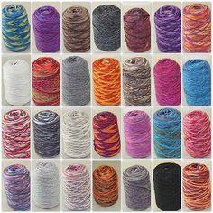 Sale 500g 1 Cone Yarn Chunky Hand Knitting Colorful Warm Soft Wool Cashmere