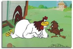 """You are a chicken, and I am a chicken hawk."" -- '70s Saturday morning cartoons were the best!"