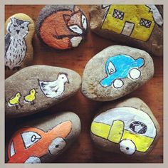 Create a set of story stones -- perfect for Screen Free week!