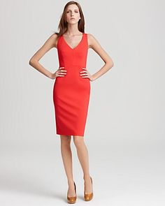Elle Tahari Camellia Double Knit Dress