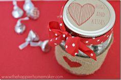 Valentine's Kisses Candy Jar | Mason Jar Crafts Love
