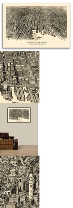20x28 Bird/'s Eye View 1886 Knoxville TN Vintage Style City Map
