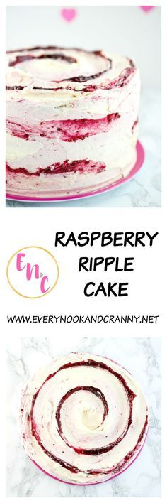 Raspberry Ripple Cake – a light and fluffy vanilla cake filled with raspberry ja… Raspberry Ripple Cake – a light and fluffy vanilla cake filled with raspberry jam and frosted with ripples of both white chocolate and raspberry Italian meringue buttercream Best Chocolate Cake, White Chocolate, Coconut Chocolate, Cake Cookies, Cupcake Cakes, Cupcakes, Just Desserts, Delicious Desserts, Cake Recipes