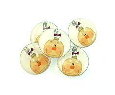 5 Snowman  Buttons. Handmade Buttons. 3/4 or 20 by buttonsbyrobin, $9.99