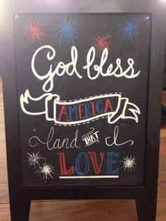 4th of July chalkboard art