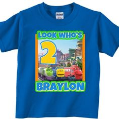 Custom Chuggington Birthday Party Shirt | Handmade and Personalized Gifts, Home Decor, Shirts, Car Decals train birthday party shirt , custom boys birthday shirts
