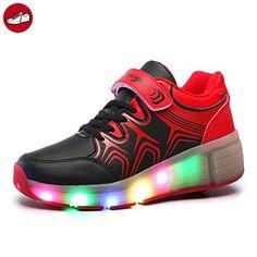 (Present:kleines Handtuch)High Top mit Velcro Schwarz EU 38, LED Leuchtend Unisex-Erwachsene Sneaker High 43 Aufladen Lackleder USB 7 für mode JUNGLEST® Schuhe Größe Sport Sportschuhe H
