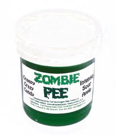 Zombie pee That just sounds so refreshing get marketing on it right away before someone else steals that idea right from under our nose.