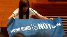 """Image copyright                  Reuters                  Image caption                                      Two of the lawmakers are part of the """"localist"""" movement that advocates for an independent Hong Kong                                Three incoming Hong Kong lawmakers have not been sworn into the Legislative Council after using their oaths to st"""