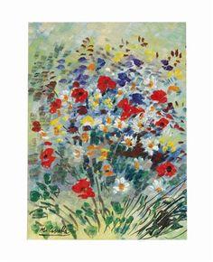 Michele Cascella - Fiori, Oil on canvas
