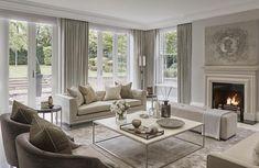 723 отметок «Нравится», 17 комментариев — Kathy Kuo Home (@kathykuohome) в Instagram: «We love the subtle peach hues in this gorgeous-in-gray formal sitting room designed by…»
