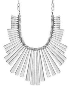 Lucky Brand Silver-Tone Statement Necklace | macys.com