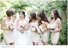 bridesmaids not even on booth sides...like it :)