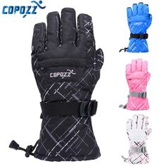 Brand Men Skiing Gloves TPU Bag Waterproof Motorcycle Winter Snowmobile Snowboard  Ski Gloves Warm Ride Thick Gloves * Offer can be found by clicking the image