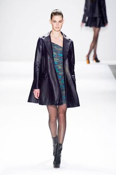 See the entire collection from the Nanette Lepore Fall 2013 Ready-to-Wear runway show. Fall Capsule Wardrobe, Swing Coats, Nanette Lepore, Ready To Wear, Fashion Show, Cute Outfits, Menswear, Coat Dress, My Style