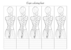 Copic coloring hair