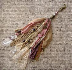 Textile Jewelry, Fabric Jewelry, Diy Jewelry, Jewlery, Diy Tassel, Lace Silk, Fabric Beads, Beaded Brooch, Bijoux Diy