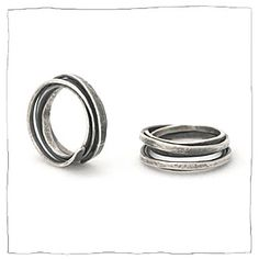 silver jewelry ring by Lisa Colby