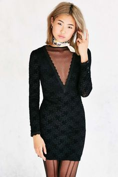 Kimchi Blue Michelle Lace Bodycon Mini Dress - Urban Outfitters