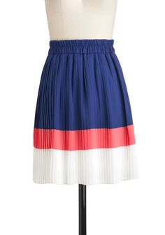 color block skirt via ModCloth.