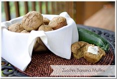 Zucchini Banana Muffins Recipe