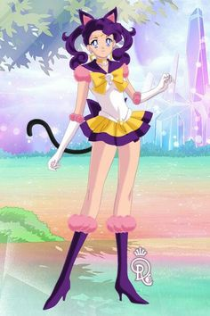 Sailor Luna from the Sailor Moon musicals. Made by Shannon Stickel using doll divine's senshi maker.