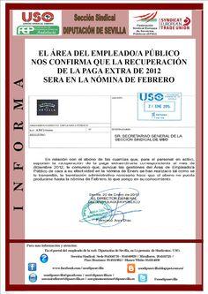 UNIÓN SINDICAL OBRERA DIPUTACIÓN DE SEVILLA: DIPUTACIÓN NOS CONFIRMA EL PAGO DEL 25 % DE LA PAG...