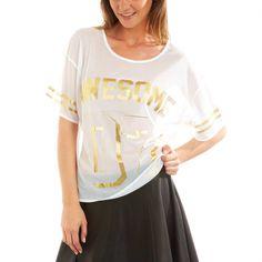 Mesh knit T-shirt                                                                                                                                             black Women size 34 to 52