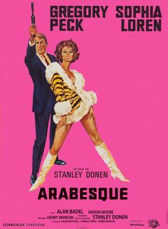 Arabesque (1966) with Gregory Peck and Sophia Loren #wow #movies