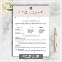 Modern Resume Template / CV Template   Professional and Creative ...